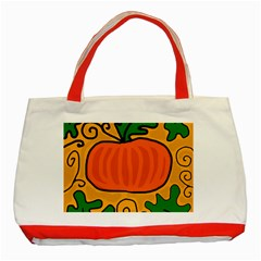 Thanksgiving Pumpkin Classic Tote Bag (red) by Valentinaart