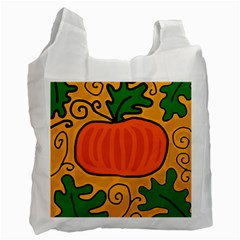 Thanksgiving Pumpkin Recycle Bag (two Side)  by Valentinaart