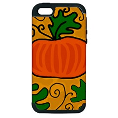 Thanksgiving Pumpkin Apple Iphone 5 Hardshell Case (pc+silicone) by Valentinaart