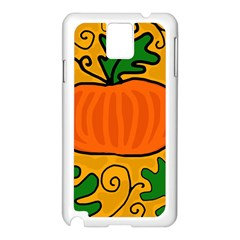 Thanksgiving Pumpkin Samsung Galaxy Note 3 N9005 Case (white) by Valentinaart