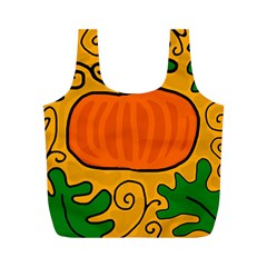 Thanksgiving Pumpkin Full Print Recycle Bags (m)
