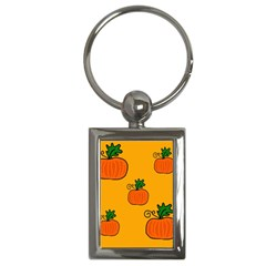 Thanksgiving Pumpkins Pattern Key Chains (rectangle)  by Valentinaart