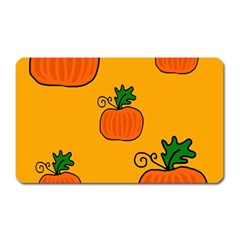 Thanksgiving Pumpkins Pattern Magnet (rectangular) by Valentinaart