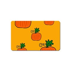 Thanksgiving Pumpkins Pattern Magnet (name Card) by Valentinaart