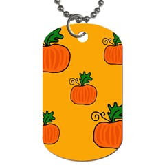 Thanksgiving Pumpkins Pattern Dog Tag (one Side) by Valentinaart