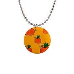 Thanksgiving Pumpkins Pattern Button Necklaces by Valentinaart