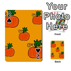 Thanksgiving Pumpkins Pattern Playing Cards 54 Designs  by Valentinaart