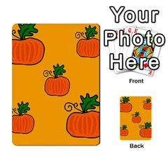 Thanksgiving Pumpkins Pattern Multi Purpose Cards (rectangle)  by Valentinaart