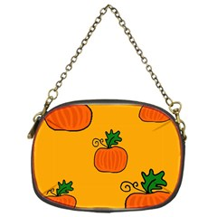 Thanksgiving Pumpkins Pattern Chain Purses (one Side)  by Valentinaart