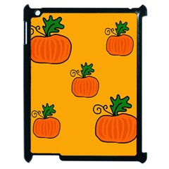 Thanksgiving Pumpkins Pattern Apple Ipad 2 Case (black) by Valentinaart