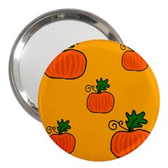 Thanksgiving Pumpkins Pattern 3  Handbag Mirrors by Valentinaart