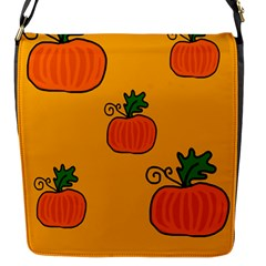 Thanksgiving Pumpkins Pattern Flap Messenger Bag (s) by Valentinaart