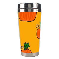 Thanksgiving Pumpkins Pattern Stainless Steel Travel Tumblers by Valentinaart