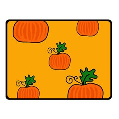 Thanksgiving Pumpkins Pattern Double Sided Fleece Blanket (small)  by Valentinaart