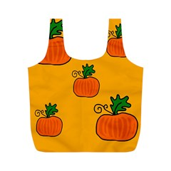 Thanksgiving Pumpkins Pattern Full Print Recycle Bags (m)  by Valentinaart