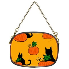 Halloween Pumpkins And Cats Chain Purses (two Sides)  by Valentinaart