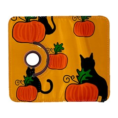 Halloween Pumpkins And Cats Samsung Galaxy S  Iii Flip 360 Case by Valentinaart