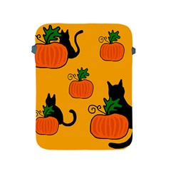 Halloween Pumpkins And Cats Apple Ipad 2/3/4 Protective Soft Cases by Valentinaart