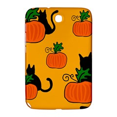 Halloween Pumpkins And Cats Samsung Galaxy Note 8 0 N5100 Hardshell Case  by Valentinaart