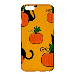 Halloween Pumpkins And Cats Apple Iphone 6 Plus/6s Plus Hardshell Case by Valentinaart