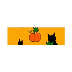 Halloween Pumpkins And Cats Satin Scarf (oblong) by Valentinaart