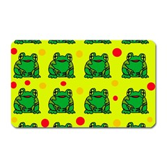 Green Frogs Magnet (rectangular) by Valentinaart