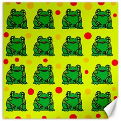 Green Frogs Canvas 16  X 16   by Valentinaart