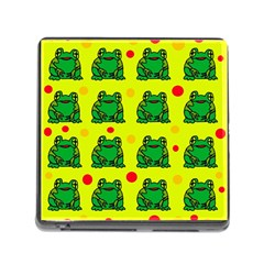 Green Frogs Memory Card Reader (square)