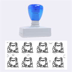 Green Frogs Rubber Stamps (large)