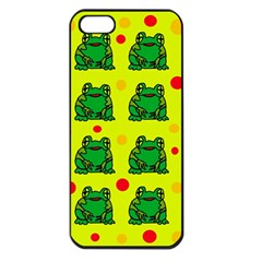 Green Frogs Apple Iphone 5 Seamless Case (black) by Valentinaart