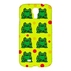 Green Frogs Samsung Galaxy S4 I9500/i9505 Hardshell Case by Valentinaart
