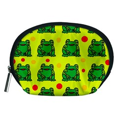 Green Frogs Accessory Pouches (medium)  by Valentinaart