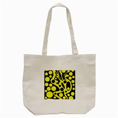Black And Yellow Abstract Desing Tote Bag (cream) by Valentinaart