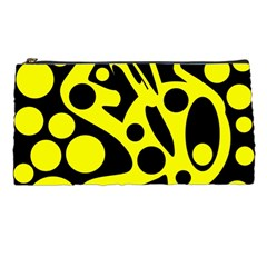 Black And Yellow Abstract Desing Pencil Cases by Valentinaart