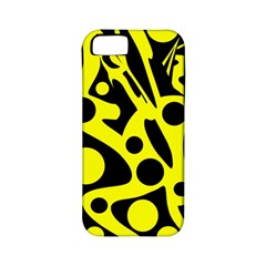 Black And Yellow Abstract Desing Apple Iphone 5 Classic Hardshell Case (pc+silicone) by Valentinaart