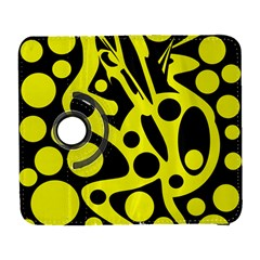 Black And Yellow Abstract Desing Samsung Galaxy S  Iii Flip 360 Case by Valentinaart