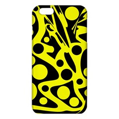 Black And Yellow Abstract Desing Iphone 6 Plus/6s Plus Tpu Case by Valentinaart