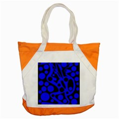 Blue And Black Abstract Decor Accent Tote Bag by Valentinaart