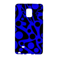 Blue And Black Abstract Decor Galaxy Note Edge by Valentinaart