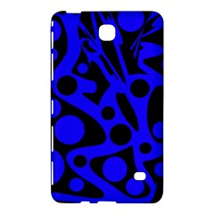 Blue And Black Abstract Decor Samsung Galaxy Tab 4 (7 ) Hardshell Case  by Valentinaart