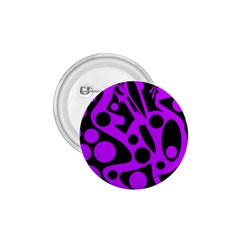 Purple And Black Abstract Decor 1 75  Buttons by Valentinaart