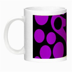 Purple And Black Abstract Decor Night Luminous Mugs by Valentinaart