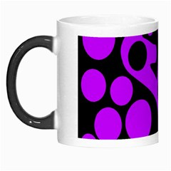 Purple And Black Abstract Decor Morph Mugs by Valentinaart
