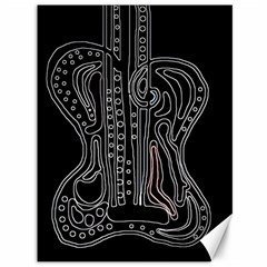 Decorative Guitar Canvas 36  X 48   by Valentinaart