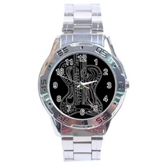 Decorative Guitar Stainless Steel Analogue Watch by Valentinaart