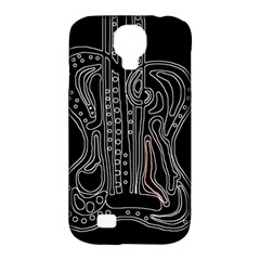 Decorative Guitar Samsung Galaxy S4 Classic Hardshell Case (pc+silicone)