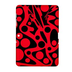 Red And Black Abstract Decor Samsung Galaxy Tab 2 (10 1 ) P5100 Hardshell Case  by Valentinaart