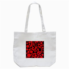 Red And Black Abstract Decor Tote Bag (white)