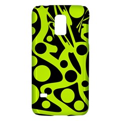 Green And Black Abstract Art Galaxy S5 Mini by Valentinaart