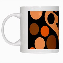 Orange Abstract Decor White Mugs by Valentinaart